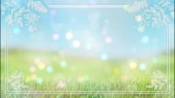 草原と光の粒子