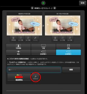 『追加画像2』タブ内の『詳細設定』ボタンを選択