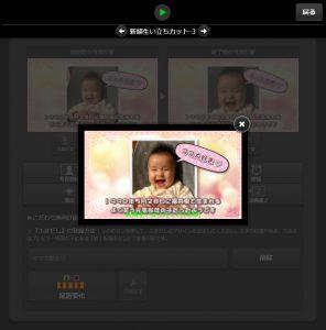 画面上の再生ボタンを押して、プレビュー動画で動きを確認